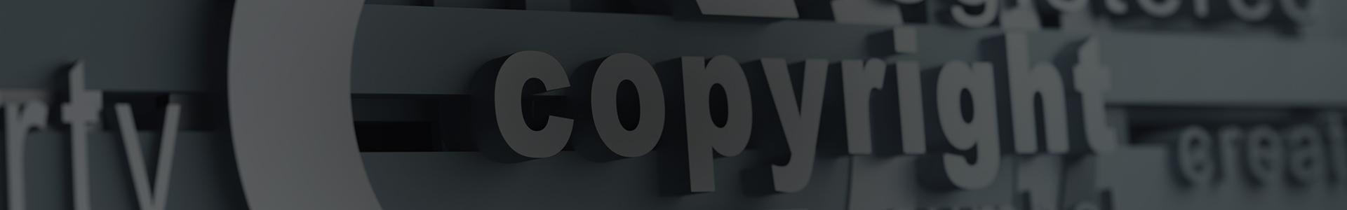 Napis 3D copywirght