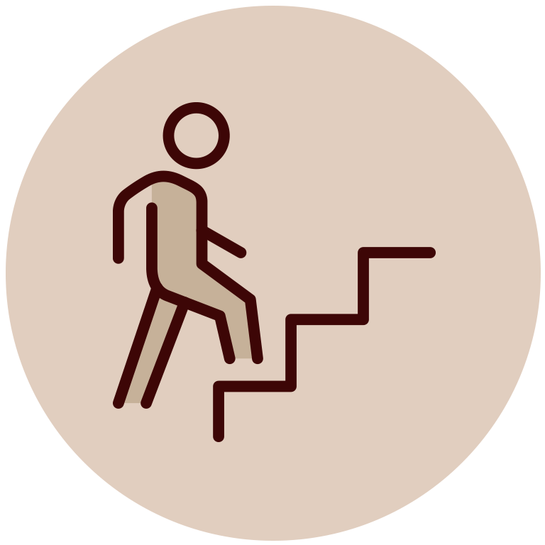 Ikona człowieka wchodzącego poschodach